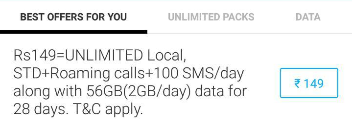 airtel 149 offer