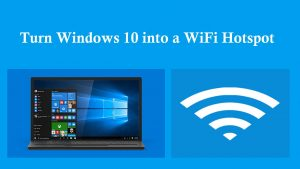 enable hotspot pon windows 10