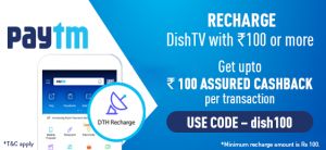dishtv paytm recharge offer coupon